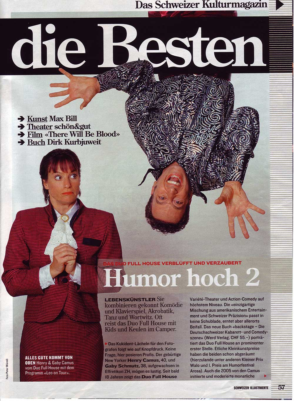 Press - Schweizer Illustriete - Duo Full House