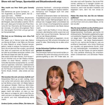 Press - Zuercher Unterlaender - Duo Full House