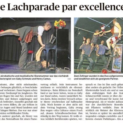 Press - Zofinger Tagblatt - Duo Full House