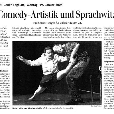 Press - St Galler Tagblatt - Duo Full House
