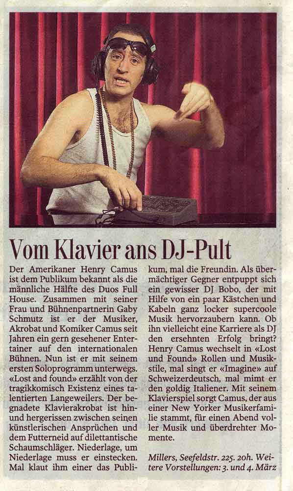 Press - Tages Anzeiger - Duo Full House