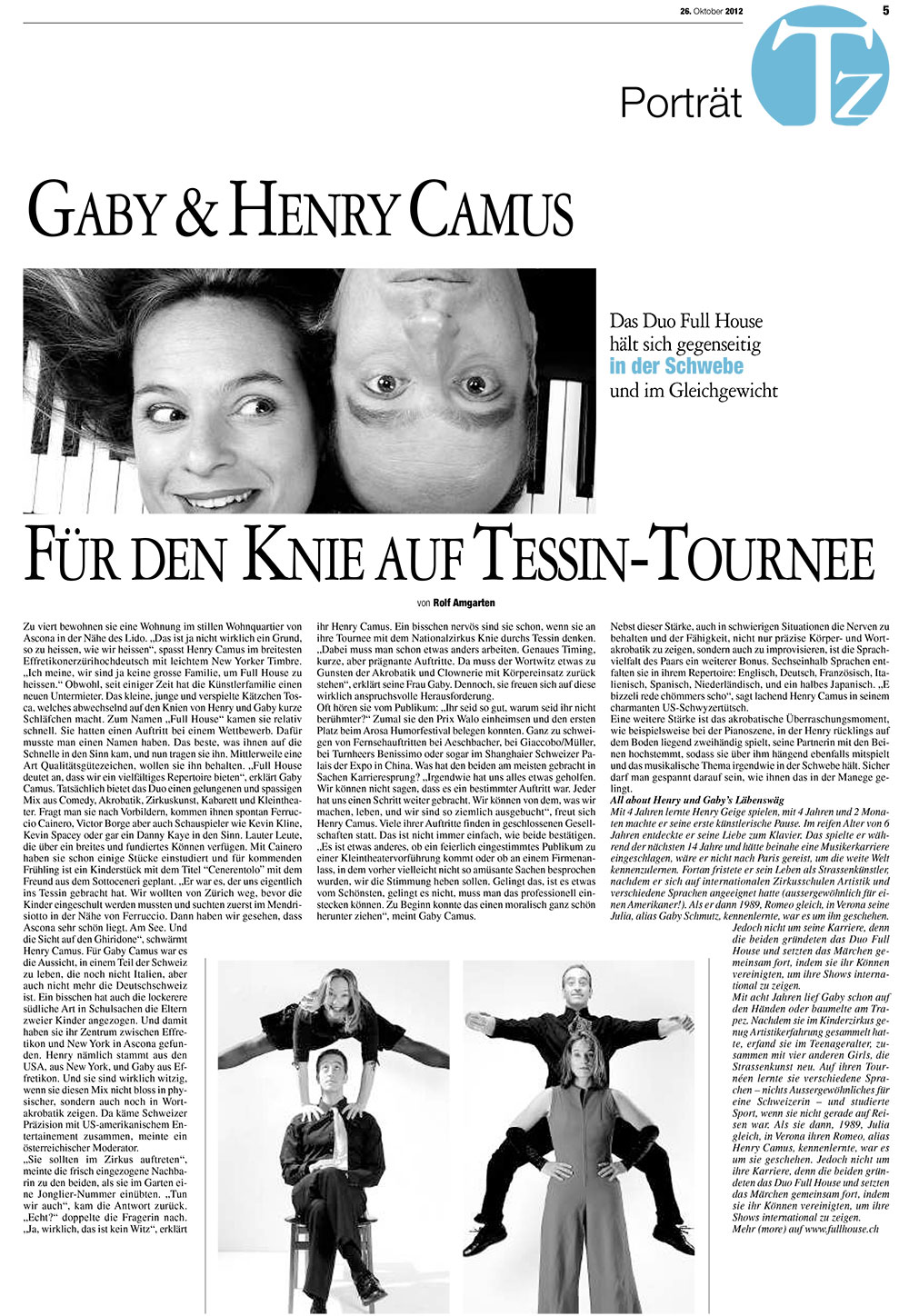 Press - Tessiner Zeitung - Duo Full House