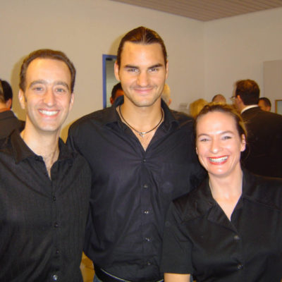 Roger Federer with Duo Full House